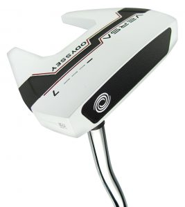 Top Rated Golf Putters - A picture of a mallet style top rated <a target='_blank' href='Top Rated Golf Putters'>putters</a> by Odyssey
