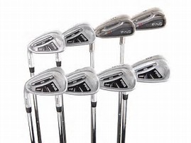 Picture of left handed golf clubs