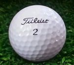 top rated golf balls - Picture of a Titleist No. 2 golf ball