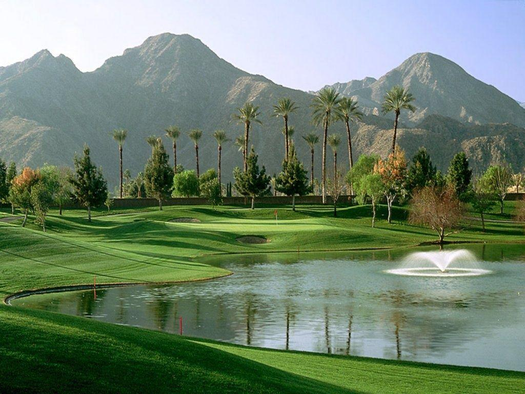 free golf instruction videos - Pic of a golf hole in the desert.