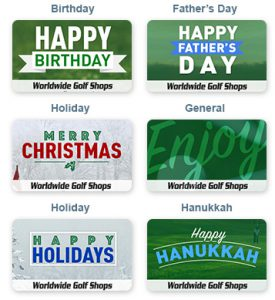 Golf Christmas Gifts - Gift Coupons